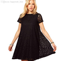 Wholesale Design For Pregnancy Clothing - Wholesale-S-XL European Design Style Lace Hollow Out Maternity Dresses Summer Short Sleeve Dresses Pregnancy Clothes For Pregnant Women