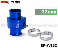 """vaina de calibre universal de 52 mm al por mayor-EPMAN - JDM Racing 32MM Sensor de temperatura del refrigerante de agua azul Adaptador del medidor de temperatura del agua 1.25 """"EP-WT32"""