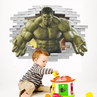 New 3D Avengers Wallpaper Sfondi Custom Hulk Unique Design Bricks Dipinto da parete Art Room Decor Pittura Wall art Camera dei bambini Camera da letto Camera da letto