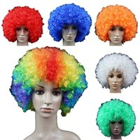 Wholesale Black Orange Wig - Retail Halloween wigs Afro wig dance performances Clown wig fans send men and women general Free shipping