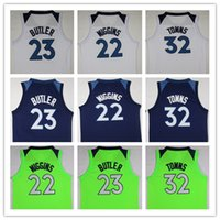 Wholesale Black Gold Fans - 1718 New Men Fans jersey #23 Jimmy Butler Jersey #32 Karl-Anthony Towns #22 Andrew Wiggins Basketball Jerseys Blue green White Jersey
