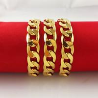 altın zincir erkekler gf toptan satış-Whoelsale 24 K SARı ALTıN DOLMASı ERKEK KOLYE 24