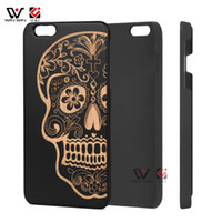 Wholesale Plastic For Engraving - Engraving Wooden Pattern Cell Phone Case for iPhone 6 Plus, for iPhone 7Plus Hot Sale Christmas gift