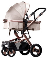 Wholesale butterfly shocks - Run-Flat Tire High-Landscape Can Lie And Sit Stroller With Innovation Butterfly Wing Shock Absorption Frame And Five-Point Safety Belt