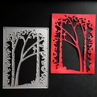 Wholesale metal die cutting - Tree Frame Metal Cutting Dies Embossing Scrapbooking Stencils Craft For DIY Card Album Photo Painting Decoration