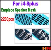 Wholesale ear speaker for iphone 4s - 200Pcs for iPhone 4 4s 5 5s 6G 6s 7 8 plus Inner Earpiece Ear Speaker Anti Dust Grill Mesh Rubber Gasket Adhesive