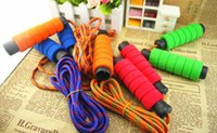 Wholesale Foam Rubber Rope - Skipping jump ropes foam handle Speed Gym Training Sports excercise fitness sports chlidren adults Fitness Supplies drop shipping
