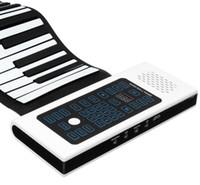 enrollar teclados de piano al por mayor-88 Teclas Roll Up Piano Teclado Recargable Con Micrófono Altavoz Instrumento Musical Accesorio Eléctrico Envío Gratis