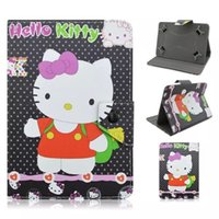 Universal dos desenhos animados Olá Kitty bolso Leather Cases Bag Bolsa para 7,0 polegada tablet PC Suporte Dreamcatcher Onda Anchor Football Club Tampa bonito