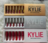 Wholesale Limited Gift - HOT Kylie Cosmetics Mini Matte Lipstick Limited Birthday Collection Leo Creme Shadow DHL Free shipping+GIFT