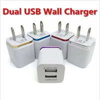 Navidad Metal Dual USB pared de carga EE. UU. UE Plug 2.1A Adaptador de corriente alterna Cargador de pared 2 puertos para Iphone X 8 7 6S plus Samsung LG Tablet Ipad