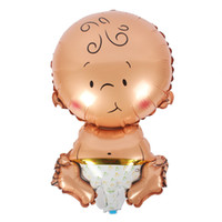 ingrosso palloncini di elio del neonato-Cute Baby Shower Air Balloons 1 ° Compleanno Decorazione Palloncini Foil Baby Girl Boy Happy Birthday Helium Balls