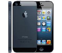 pantalla reformada al por mayor-Apple iPhone 5 original con pantalla original Batería original iOS 8.0 Dual Core 16GB / 32GB / 64GB 8MP Teléfono desbloqueado restaurado