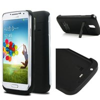 Wholesale Galaxy S4 Power Bank Cover - 3200mah Potable Power Bank External Battery Power Bank Case Cover For Samsung Galaxy S4 i9500 Black C102087