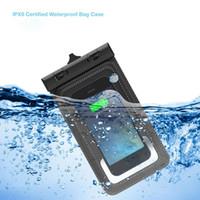 capa impermeável galaxy s4 venda por atacado-IPX 8 Underwater 4 M À Prova D 'Água Telefone Caso PVC Saco Impermeável para o iphone 6 para Samsung Galaxy S6 Borda / S5 / S4