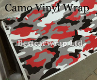 Wholesale car door stickers design for sale - Group buy Matte Gloss Red Camouflage Sticker Wrap With Air Release Arctic Camo Film For Car Wrap Graphics Design x m m m Roll