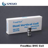 Wholesale Electronic Cigarette Sub - 100% Original FreeMax Starre Sub Tank DVC 0.25ohm 0.5ohm Dual Vertical Coil Replacement Coils For Electronic Cigarette 2015
