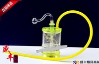 Wholesale color filter bongs resale online - Hookah Acrylic bong Yiping flat layer filter hookah color random delivery