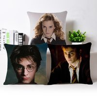 Harry Potter Style Throw Pillow Case Fodera per cuscino Square Fashion Decoracion per Natale Bar Home Restaurant Hotel 45 X 45 CM Cotone Lino