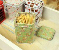 Wholesale Mini Caddy - 2016 Fashion Leopard Pattern Mini Tin Box Tea Caddy Candy Toothpick Box Seal Storage Box Four Square Iron Box For Kid Gifts