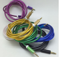 Wholesale golden audio resale online - New m audio cable cardas golden car audio cable car mm high grade AUX cable for iphone S samsung galaxy S6 HTC