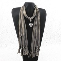 Wholesale Scarf Jewelry Mixed Crosses - 2013 new scarf jewelry wholesale , new pitting Heart Pendants , multicolor mixed WY100 12p
