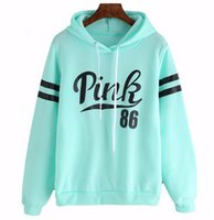 Wholesale women s warm clothing for sale - Love Pink Women Long Sleeve Hoodie Girls Running Sports Warm up Top Clothes Winter Hooded Sweatshirts for Ladies