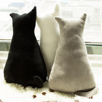 1 unid 45 cm Soft Fashion Back Shadow Cat Seat Sofá Almohada Cojín Cute Plush Animal Stuffed Cartoon Pillow Great Toys for Gift