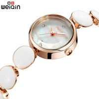 Wholesale-WEIQIN Brand Women Relógios 2017 Luxury Ceramic Band Ladies Watch Fashion Elegant Quartz Bracelet Watch Mulher Montre Femme