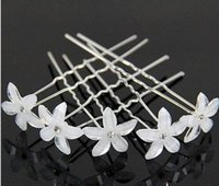 Wholesale Wholesale Tiaras Hair - Hot hair Resin flower U more hair barrette fine beautiful bride wedding tiara