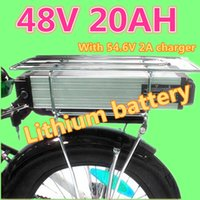Wholesale Bikes Scooters - ebike lithium battery 48v 20ah lithium ion bicycle 48v electric scooter battery for kit electric bike 1000w with BMS and 2a Charger