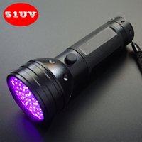 Wholesale Uv Blacklight Flashlight - Handheld 395nM 51 UV Ultraviolet LED flashlight Blacklight