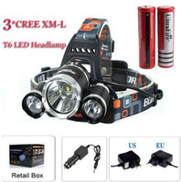 Wholesale outdoor headlights - good price 5000 Lumen T6+2R5 Boruit Head Light Headlamp Outdoor Light Head Lamp HeadLight Rechargeable by 2x 18650 Battery Fishing Camping