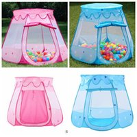 2 colori Bambini Beach Tent Baby Toy Gioca Game House Kids Princess Castle Tenda Indoor Outdoor Toys Tende Regali di Natale CCA8418 10 pezzi