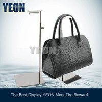 Wholesale YEON Adjustable Silver Polished Bag Display Holder Metal Handbag Stand Display Women Fashion Purse Rack for
