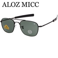 ingrosso occhiali da sole ao-ALOZ MICC Newest Hot Army AO Occhiali da sole pilota per gli occhiali da sole degli uomini di lusso Occhiali da uomo UV400 Oku Ross De Sol - Occhiali da sole degli uomini A430