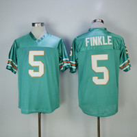 Wholesale Movie Filmed - cheap Mens The Ace Ventura Movie Jim Carrey #5 Ray Finkle Teal Green Stitched The film Football Jerseys Size S-3XL