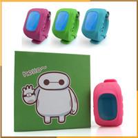 Wholesale Gsm Gprs Watch Phone - Smart Phone Watch Children Kid Wristwatch q50 W5 GSM GPRS GPS Locator Tracker Anti-Lost Smartwatch Child Guard for iOS Android