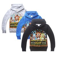Wholesale New Kids Cartoon game Five Nights at Freddy s long sleeve Hoodies cotton Sweatshirts for boys girls TM