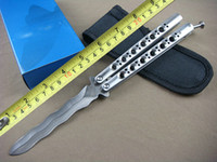 Wholesale Butterfly Nylon - Classic BM49 Balisong Knife 440C 59HRC Steel Snake Shade Blade Butterfly Knife Tactical Knife Wtih Nylon Bag B132L