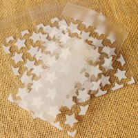 Wholesale Cellophane Packaging - NEW White & Golden Stars Small Accessories Cellophane Favor Mini Bags, Self Seal Party Packaging,gift packing bags