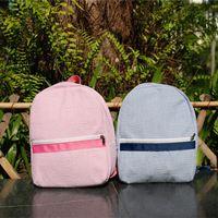 Wholesale Cute Shoulder Bags For Kids - Wholesale children kids seersucker school backpack pre school bags cute lovely school bag present for children with two colors DOM103187