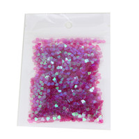 Wholesale purple heart stickers - Wholesale- Elegant Purple Color Nail Glitter 3D Glitter Peach Heart Nail Art Design Decorations DIY Tools Nail Stickers WY16