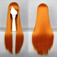 Wholesale Evangelion Wig - Wholesale free shipping >>>>Eva Neon Genesis Evangelion Asuka Langley Soryu 80cm Long Orange Red Hair Wig