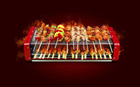 Wholesale 2015new Large medium oven Korean style smokeless barbecue grill for more than people Electric grill