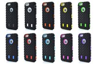 Wholesale Transparent Plastic Iphone 4s - Tire Robot Hybrid Heavy Duty Rugged Shockproof Hard plastic Soft Silicone Case Skin Cover for iphone 4 4S 5 5S iphone 6 6G plus ipone 7
