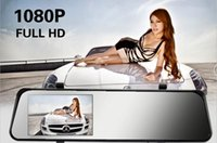 "Wholesale Tft Rearview Mirror Dual Lens - car dvr 6000A Car Rearview Mirror Car Camera DVR Recorder Full HD 1080P DVRs Dual Lens 4.3"" TFT LCD GPS G-sensor 170 Degree Angle Z147"