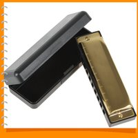 Wholesale Swan Harmonicas - Professional Diatonic Harmonica Golden Swan Harmonica Blues Reed 10 Holes 20 Tones Key of C   G Musical Instrument Accessories