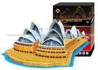Großhandels-Shanghaimagicbox 3 Dimensional Sydney Opera House Puzzle 58 Stück Modell DIY Puzzle PUZZLE012