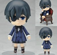 "Wholesale Black Butler Ciel Toy - Free Shipping Cute 4"" Nendoroid Black Butler Kuroshitsuji Ciel PVC Action Figure Model Collection Toy"